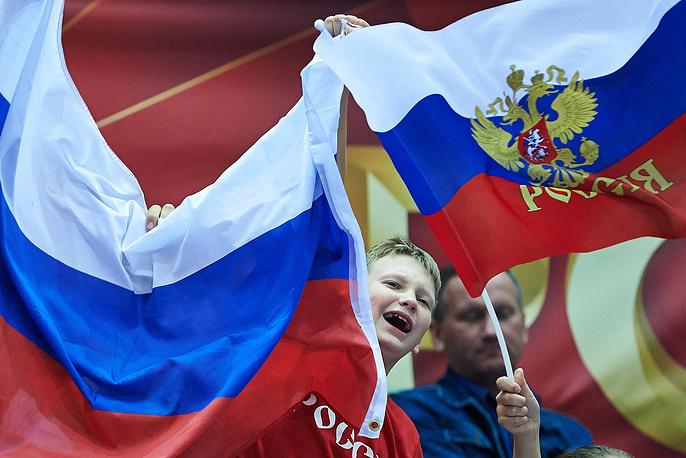 Болельщик российской национальной команды