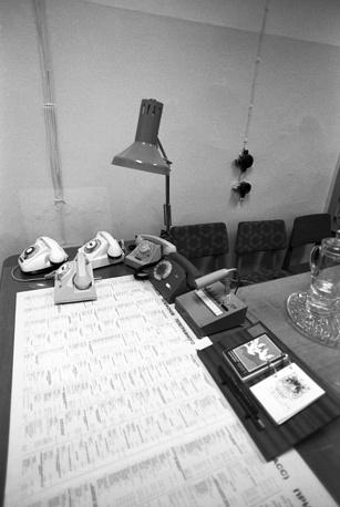 Рабочий стол генерального директора ИТАР-ТАСС в подземном резервном бункере, 1991 год