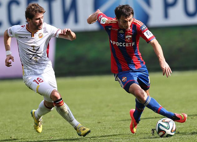 Активные действия Алана Дзагоева помогли ЦСКА заработать пенальти