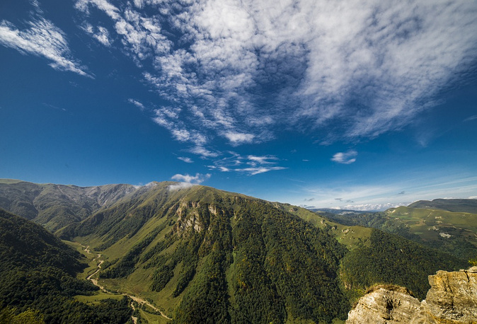 В горах Чечни.