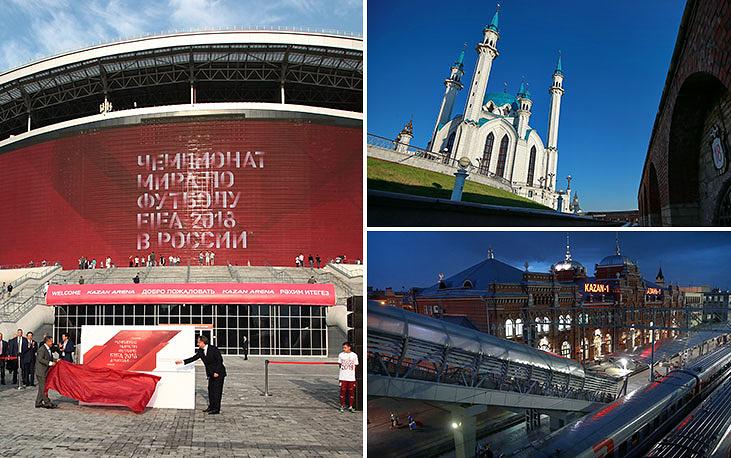 """""""Казань-Арена"""" вмещает 45 тыс. зрителей. На стадионе проходили церемонии открытия и закрытия летней Универсиады 2013 года. В ходе визита в Казань в октябре 2014 года инспекционная комиссия ФИФА высоко оценила уровень готовности стадиона к ЧМ-2018"""