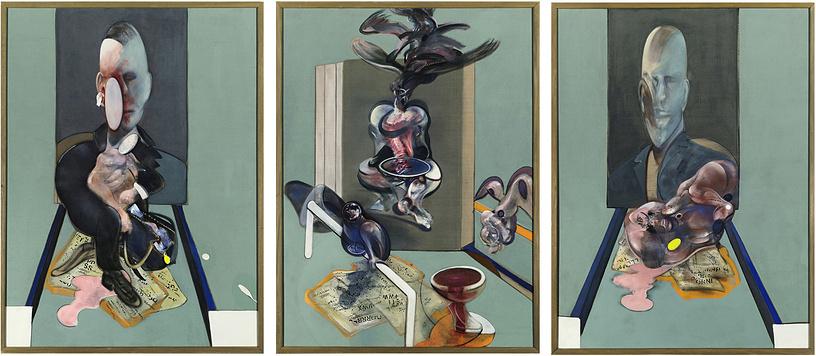 """В 2008 году российский предприниматель Роман Абрамович в Нью-Йорке купил за $86,3 млн триптих британского экспрессиониста Фрэнсиса Бэкона """"Ориентир канонического XX века"""", созданный в 1976 году"""