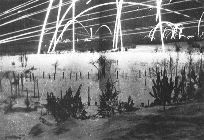 Сигнальные ракеты над советско-финляндской границей, первый месяц войны