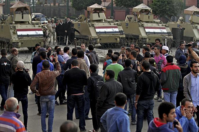 Демонстрации прошли не только в Каире, но и в других городах. Десятки человек были задержаны