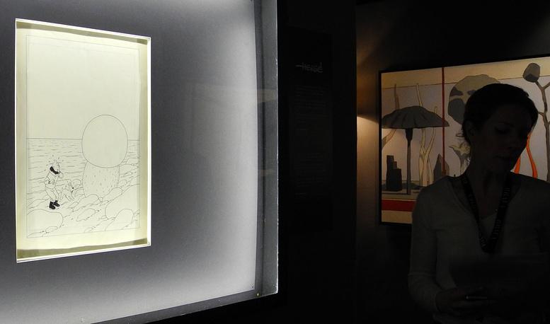 """Обложка альбома """"Загадочная звезда"""" о герое комиксов Тинтине авторства Эрже в  Petits Papiers - Huberty & Breyne предлагают за  2,5 миллиона евро"""