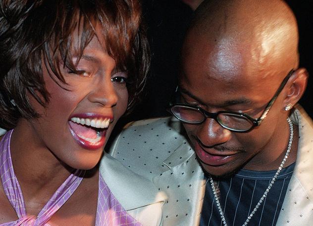 С мужем Бобби Брауном на показе Versace, 1998 год