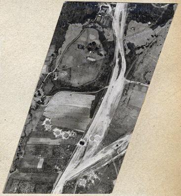 Аэрофотофиксация результатов бомбардировки. Снимок из личного альбома фронтового фотографа Николая Филатова