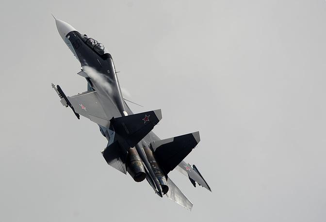 Многофункциональный истребитель Су-30СМ. Морская авиация Черноморского флота получит несколько таких машин в рамках замены устаревшего парка фронтовых бомбардировщиков Су-24