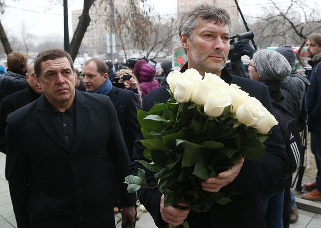 Журналист Александр Любимов и мэр Екатеринбурга Евгений Ройзман
