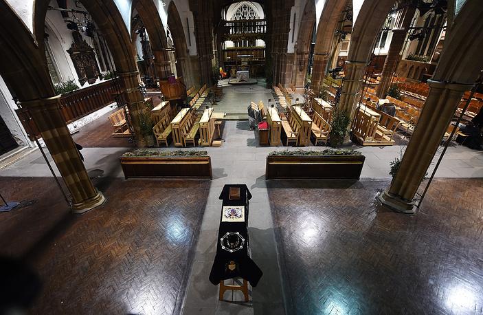 Могила Ричарда III считалась утерянной в течение почти пяти веков. На фото: гроб с останками короля Ричарда III в кафедральном соборе Лестера