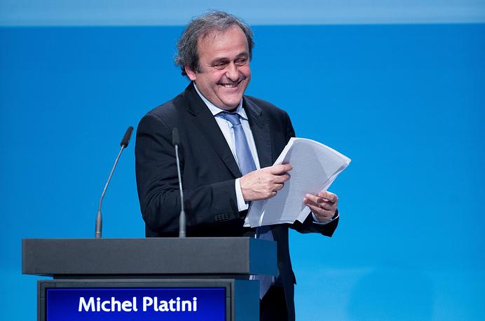 Француз Мишель Платини на безальтернативной основе переизбран президентом Союза европейских футбольных ассоциаций (УЕФА) до 2019 года. Об этом было объявлено на конгрессе организации в Вене 24 марта