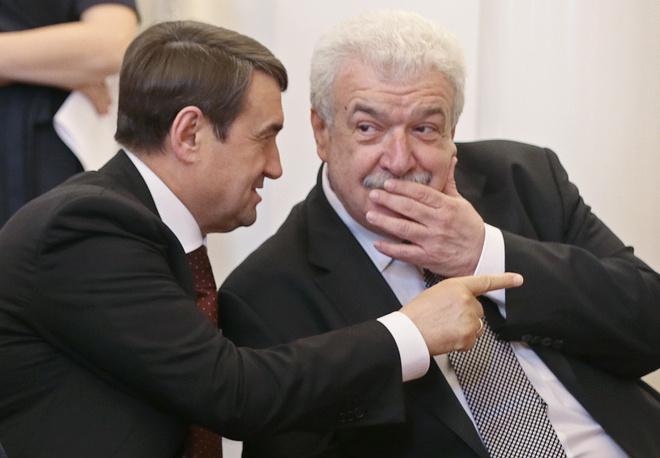 Советник президента РФ Игорь Левитин и заместитель генерального директора ТАСС Михаил Гусман