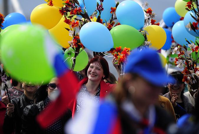 Первомайское шествие во Владивостоке