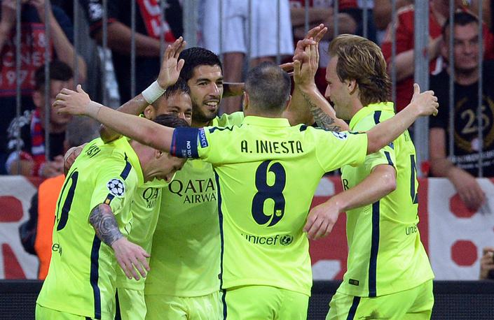 """""""Барселона"""" впервые с 2011 года вышла в финал Лиги чемпионов. Испанская команда по сумме двух встреч оказалась сильнее """"Баварии"""" - 3:0 дома, 2:3 в гостях"""