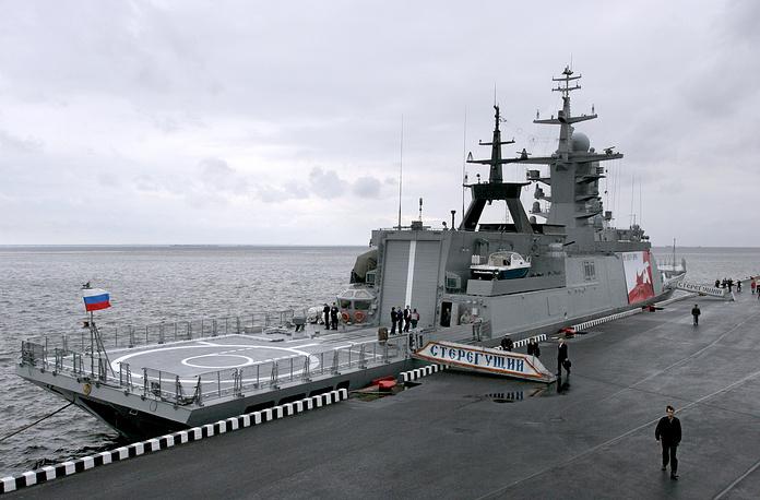 """Корвет проекта 20380 """"Стерегущий"""", представленный на третьем Международном военно-морском салоне"""