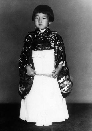 Наследный принц Японии Акихито в возрасте 5 лет, 1938 год