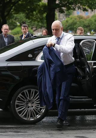 Министр финансов РФ Антон Силуанов перед началом делового завтрака Сбербанка России