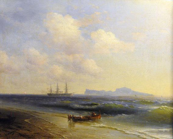 """Море у острова Капри"" (1876), И.К.Айвазовский"