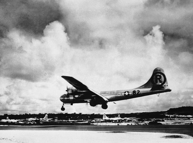 Военный самолет ВВС США Boeing B-29, получивший мировую известность после того, как в августе 1945 года сбросил атомные бомбы на японские города Хиросима и Нагасаки