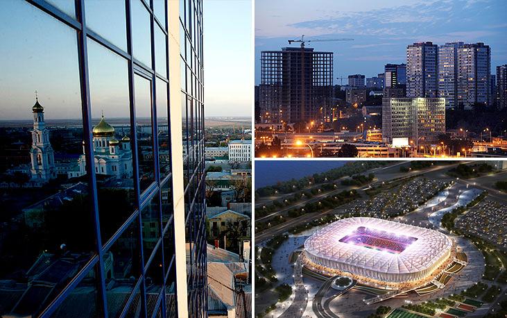 Местом расположения арены в Ростове-на-Дону был выбран левый берег реки Дон. Сдача в эксплуатацию - 2017 год, вместимость составит - 45 тыс. зрителей