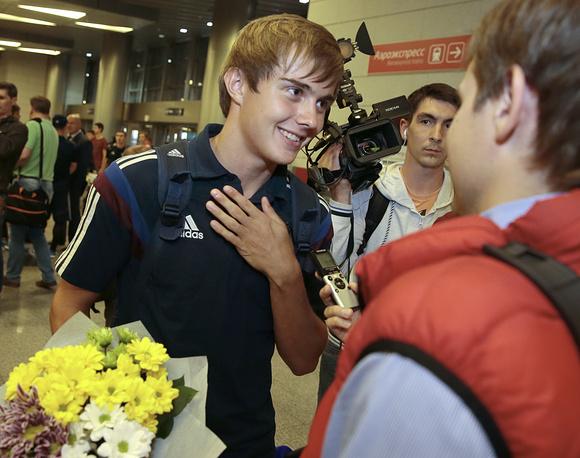 Игрок юношеской сборной России по футболу Александр Зуев