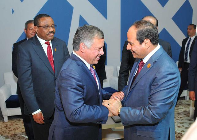 Король Иордании Абдалла II и президент Египта Абдель Фаттах ас-Сиси