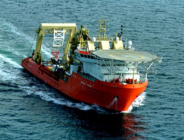 """Норвежское судно """"Норманн пионер"""", принимавшее участие в операции по спасению экипажа атомной подводной лодки """"Курск"""""""