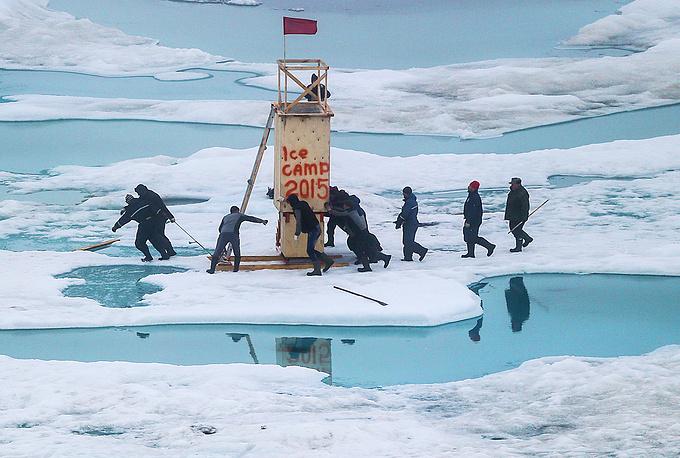 Работы по эвакуации экипажа станции