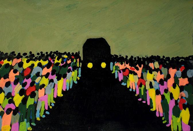 Светлана Шуваева. Без названия. 2014. Картон, акриловые маркеры