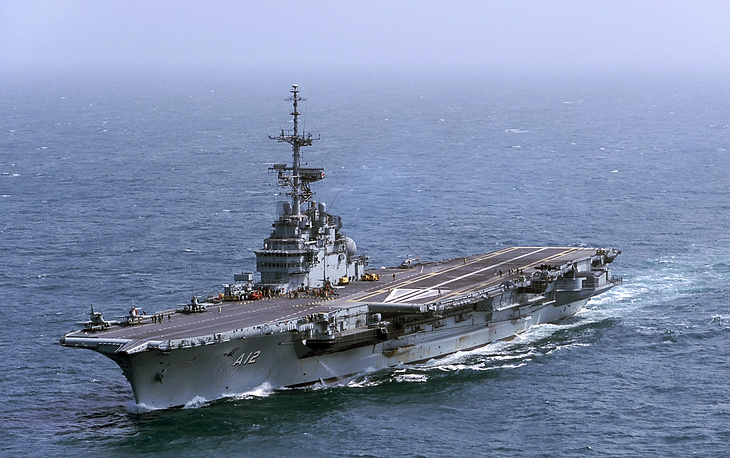 "Авианосец ВМС Бразилии ""Сан-Паулу"" - бывший авианосец ""Фош"" типа ""Клемансо"" ВМС Франции"