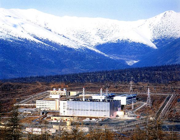 Билибинская АЭС (близ г. Билибино, Чукотский автономный округ) - единственная атомная электростанция на Дальнем Востоке РФ. Запущена в эксплуатацию в 1974 г., имеет 4 энергоблока мощностью 12 МВт каждый