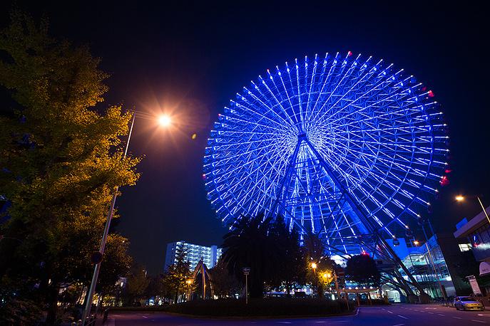 Колесо обозрения, Осака, Япония