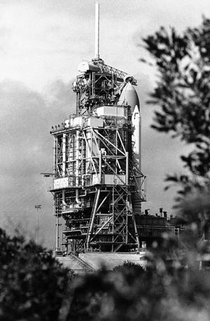 Challenger на космодроме на мысе Канаверал, 25 января 1986 года
