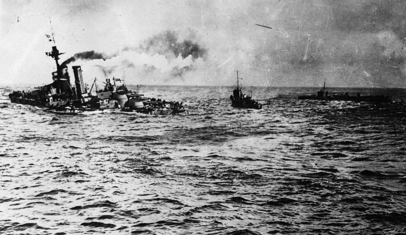 Дредноут HMS Audacious затонул у побережья Ирландии. 1914 год