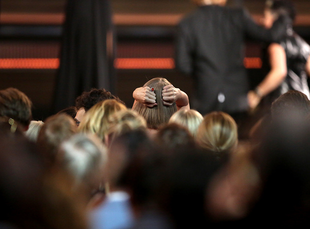 Певица Тейлор Свифт после объявления победителей