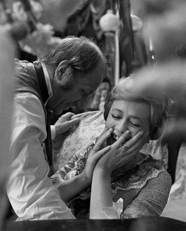 Лев Дуров и Марина Неелова в телевизионной постановке. Москва, 1980 год