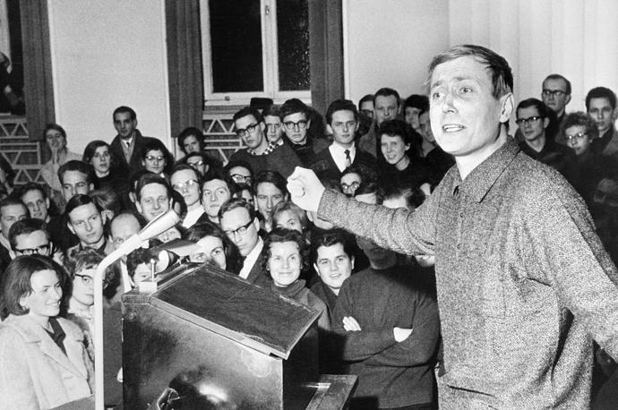 Встреча со студентами университета в городе Тюбингене, 1963 год