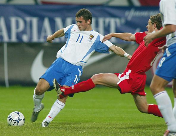 2003 год. В матче за сборную России против швейцарцев