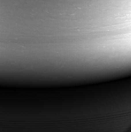 Последний снимок, сделанный Cassini 14 сентября 2017 года