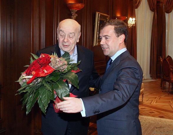 С президентом РФ Дмитрием Медведевым, 2008 год