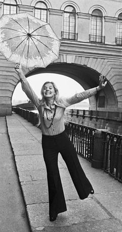 Людмила Сенчина в Ленинграде, 1975 год