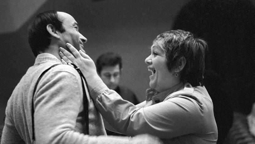 Галина Волчек и Валентин Гафт. 1983 год