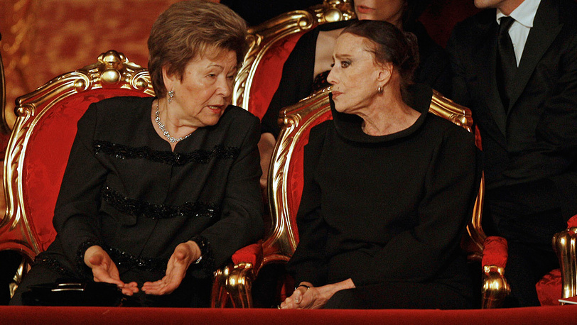 Наина Ельцина и Майя Плисецкая в Большом театре. 2011 год