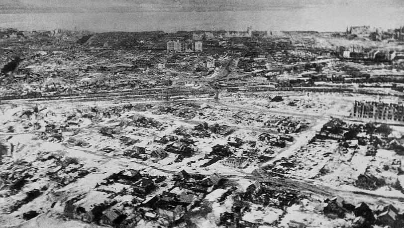 Аэрофотоснимок Сталинграда
