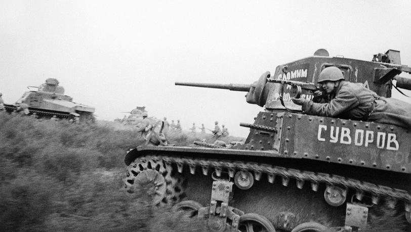 Во время наступления танковых частей Красной армии