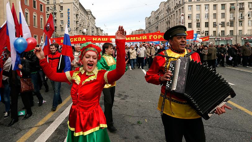 Митинг профсоюзов. Москва