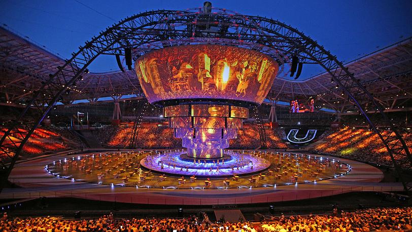 На церемонии открытия Универсиады