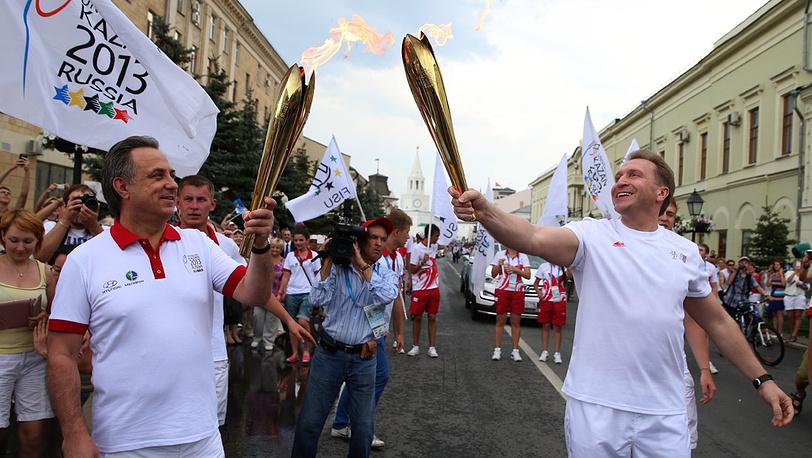Министр спорта РФ Виталий Мутко и первый вице-премьер РФ Игорь Шувалов