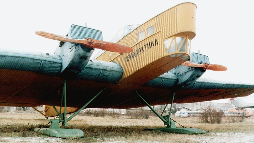 Единственный уцелевший экземпляр первого цельнометаллического самолета АНТ-4