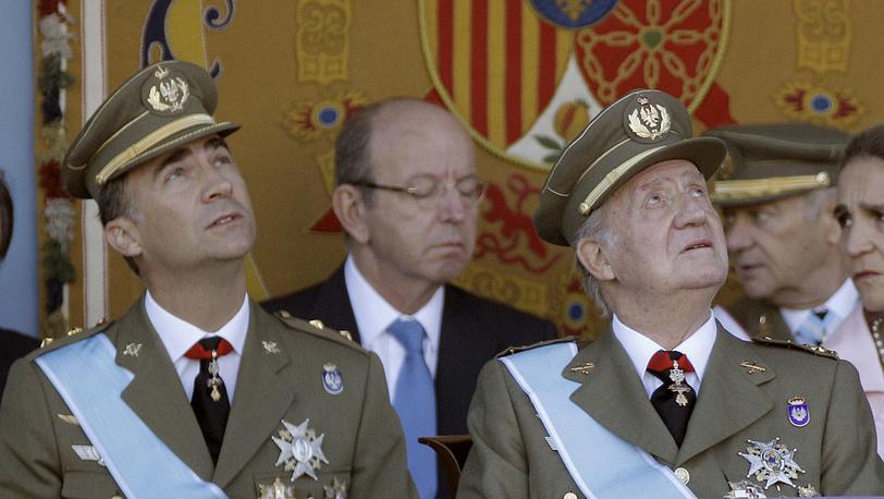 На параде в честь Дня Испанской Нации